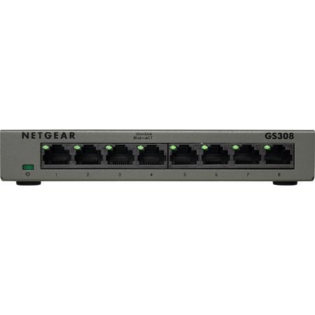 NETGEAR GS308-300PAS 8-Port Gigabit Ethernet Unmanaged Switch (GS308)