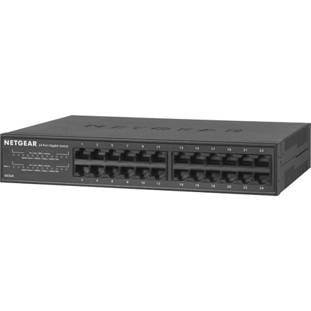 NETGEAR GS324-200NAS 24-Port Gigabit Ethernet Unmanaged Switch Desktop/Rackmount (GS324)