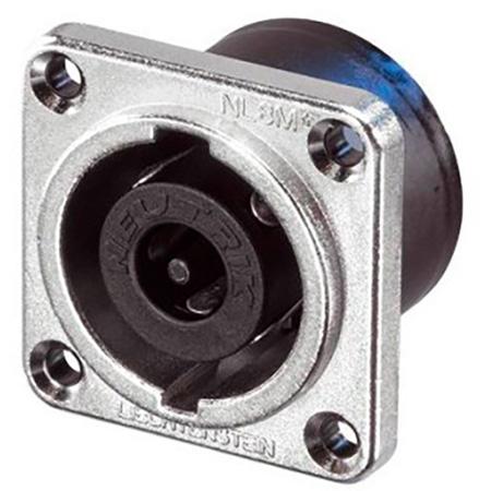 Neutrik NL8MPR speakON 8 pole Chassis Connector - Nickel