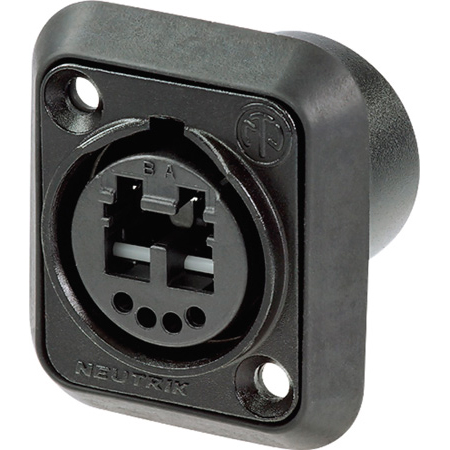 Neutrik NO2-4FDW-A opticalCON DUO Chassis - Black