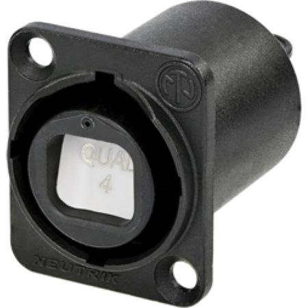 Neutrik NO4FDW-A opticalCON QUAD Chassis Connector - Black