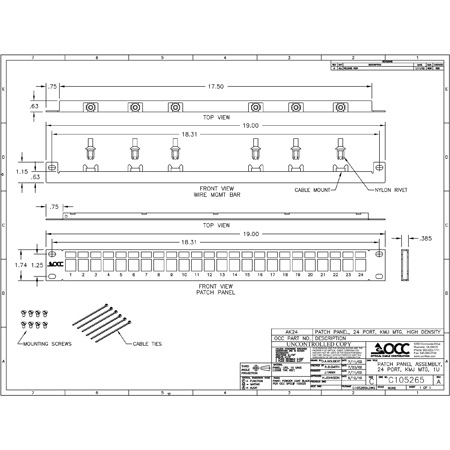 OCC AK24 Snap-In Multimedia Patch Panel