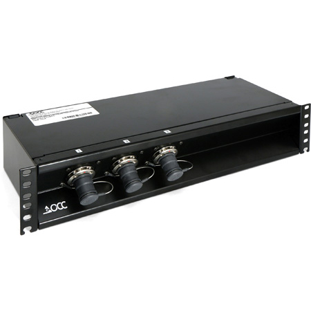 OCC RC2U31LSISP01R31A Broadcast SMPTE 3x1 Splice Enclosure for 3-In-1 Stadium Cable with LEMO Socket and 6.35-9.65 Cable