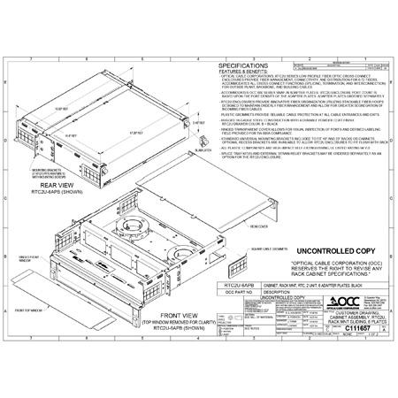 OCC RTC2U-6APB RTC Series - Rack Mount Fiber Enclosures