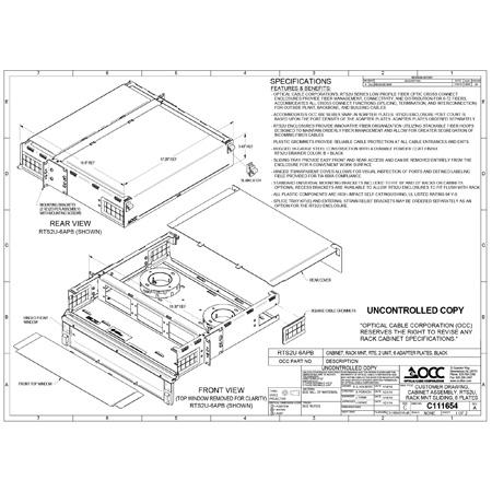 OCC RTS2U-6APB RTS Series - Rack Mount Fiber Enclosures