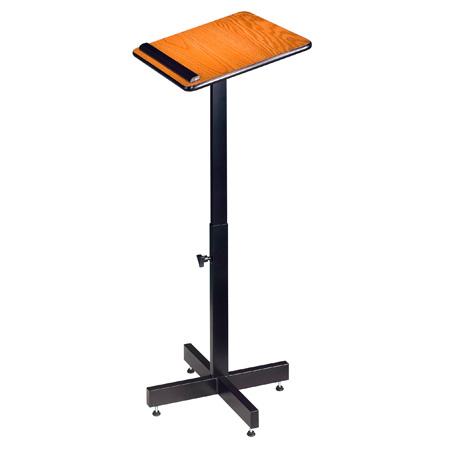 Oklahoma Sound Height Adjustable Portable Lectern - Medium Oak