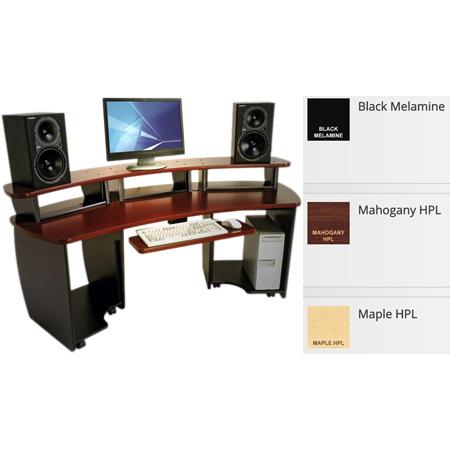 OmniDesk OMNI-MF Mahogany Audio Video Editing Desk