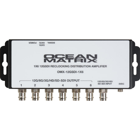 Ocean Matrix 12GSDI-1X6 12G-SDI Reclocking 1x6 Distribution Amplifier