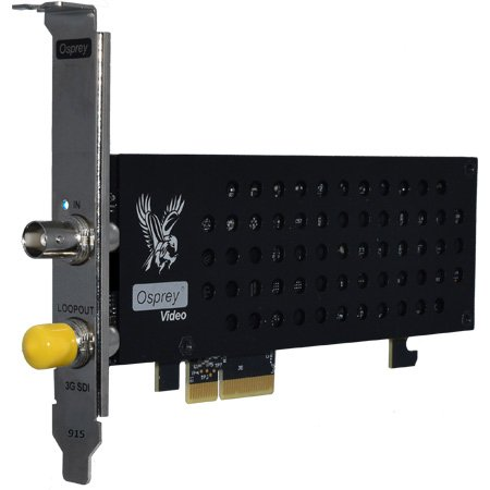 Osprey Video Raptor 915 1x 3G SDI with 3G SDI Loopout Embedded 8 Stereo Audio Pairs Per Channel