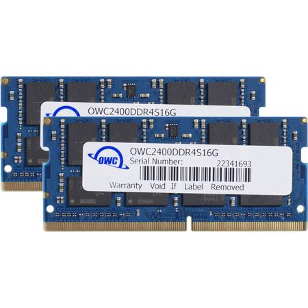 OWC OWC2400DDR4S32P 32.0GB (2x 16GB) 2400MHz DDR4 SO-DIMM PC4-19200 SO-DIMM 260 Pin CL17 RAM Memory Upgrade Kit