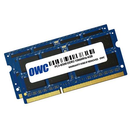 OWC 8566DDR3S8GP 8.0GB - 2 x 4GB -PC-8500 DDR3 RAM Kit for iMac 2009 & MacBook/Pro Unibody 2008-10 & Mac mini 2009-10