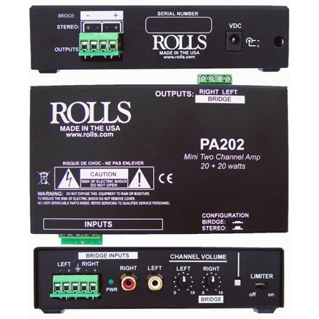 Rolls PA202 20x20 Watt Mini Power Amp