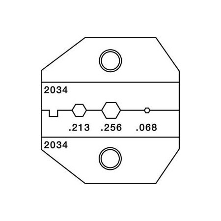 Greenlee PAL-2034 Die Set for RG59/58/62AU Coaxial Cable
