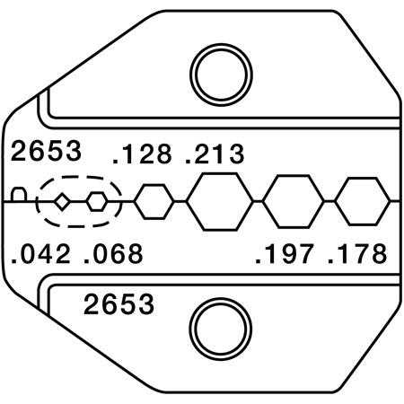 Greenlee PA2653 CrimpALL Die Set for RG58/Mini-59 for 2-piece/3-piece SMA/SMB/BNC/TNC & Mini-UHF