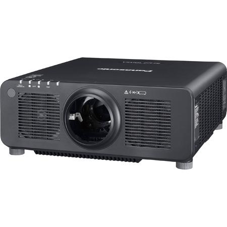 Panasonic PT-RZ120LBU WUXGA Resolution 12600 Lumens Laser 1-Chip DLP Projector - Without Lens - Black