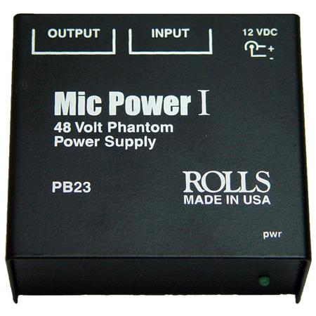 Rolls PB23 XLR Single Channel Phantom Power Adapter / Power Supply