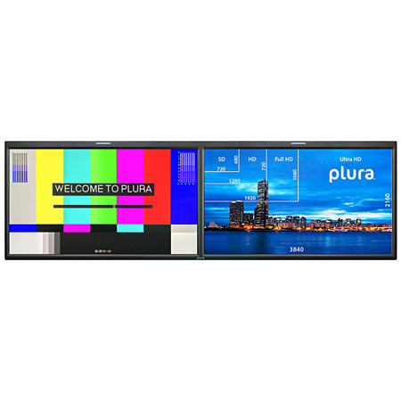 Plura PBM-224-4K-DUAL Dual Integrated 24inch 4K Monitors - Customized Monitoring Solution (4096 x 2160)