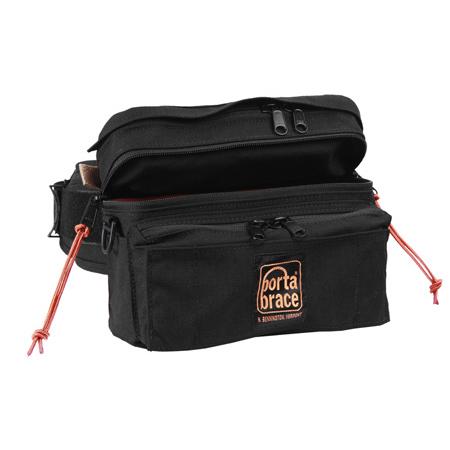 Portabrace HIP-2LENS Hip Pack for Carrying a Zoom Lens or Two Prime Lenses - Black