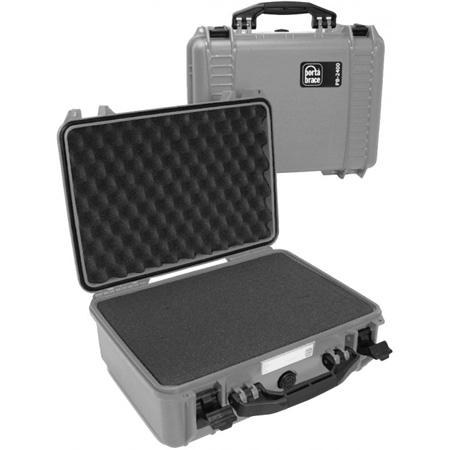 Portabrace PB-2400FP Airtight Hard Case - Small - Platinum
