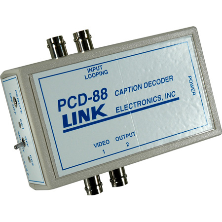Link Electronics PCD-88 Portable Closed Caption Decoder w/Power Supply