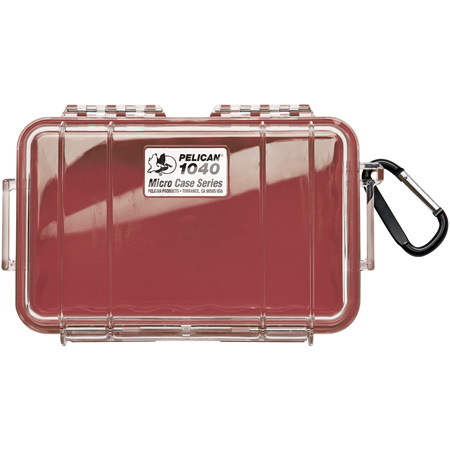 Pelican 1040 Micro Case - Clear Case/Red Liner