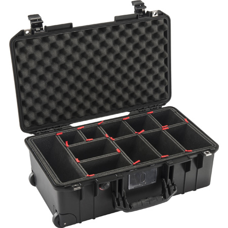 Pelican 1535TP Air Carry-On Air Case with TrekPak Divider System - Black