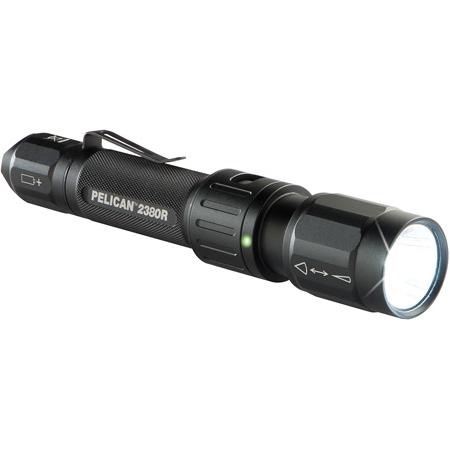 Pelican 2380R Rechargeable LED Flashlight - Li-Ion - Black