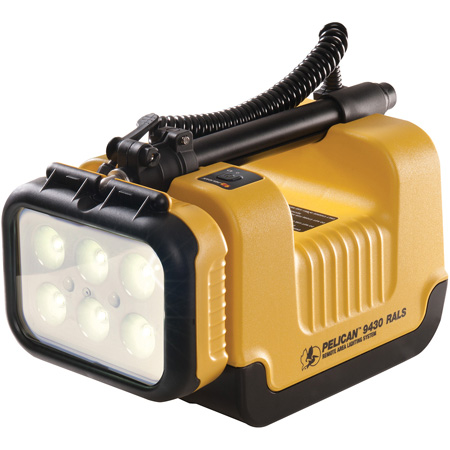 Pelican 9430 12V Rechargeable Remote Area Work Light Lighting System Yellow