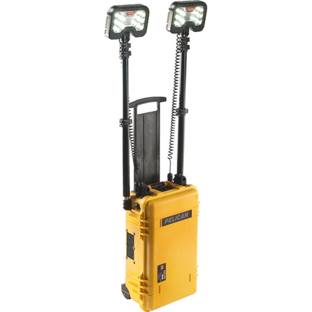 Pelican 9460 Rechargeable 12000 Lumens Outdoor LED Remote Area Work Light with Bluetooth - Yellow