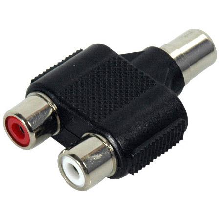 RCA Female-Female-Female T Adapter