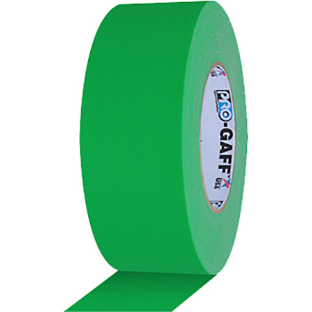 Pro Tapes 001UPCG250MCHGRN Pro Gaff Gaffers Tape PGCG2-50 2 Inch x 50 Yards - Chroma Key Green