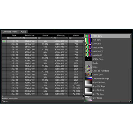 Phabrix PHQXO-GEN 3G-SDI Generator Software Option Plus SMPTE 2022-6 IP Encapsulator License for PHQX01-IP