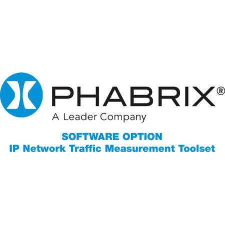 Phabrix PHQXO-IP-MEAS IP Network Traffic Analysis Toolset including 2110-21 / Advanced Flow Timing / PIT Histograms