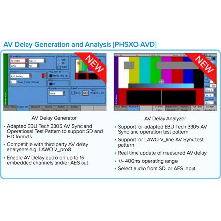 Phabrix PHSXO-AVD AV Delay Generation and Analysis Software License Supports PHABRIX EBU & LAWO AV Delay Sequences