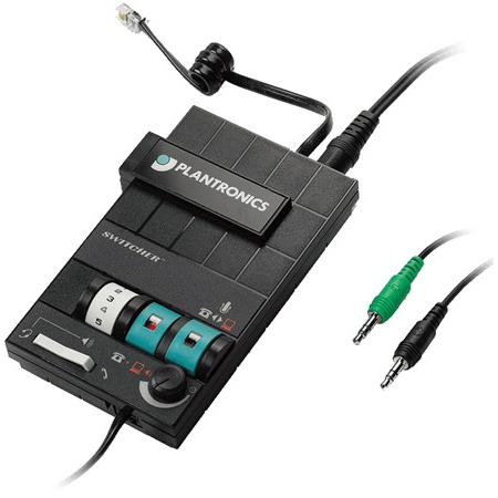 Plantronics MX10 Audio Processor - 1 x Phone Line (RJ-11) - Headphone - Desktop Telephone Audio Dev with 3.5mm Ports