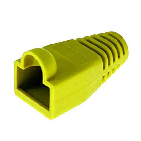 Platinum Tools 105086 RJ45 Boot 6.5mm Max OD - Yellow - 100 Pack