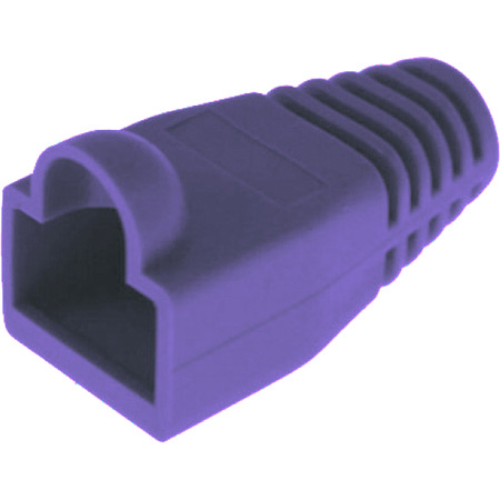 Platinum Tools 105088 RJ45 Boot - 6.5mm Max OD - Purple - 100 Pack