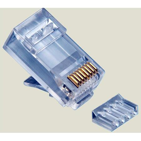Platinum Tools 106187C RJ45 Cat6 2 Piece High Performance Connector - 25 Pack