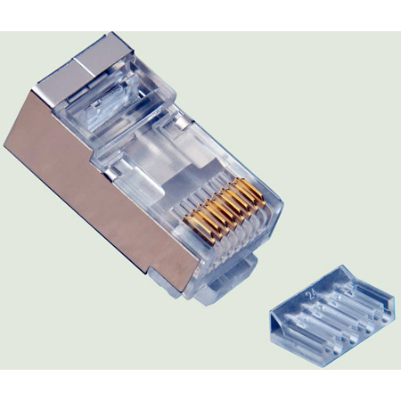 Platinum Tools 106207C RJ45 Cat6 Shielded 2 Piece High Performance Connector - 50 Pack