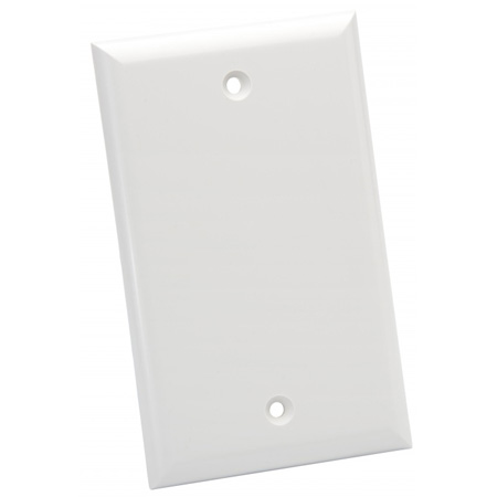 Platinum Tools 600WH-25 - Wall Plate - Standard - 1 Gang Blank - White - 25 Piece/Installer Pack