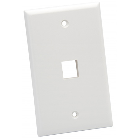 Platinum Tools 601WH-25 Wall Plate - Standard - 1 Port - White - 25 Piece / Installer Pack