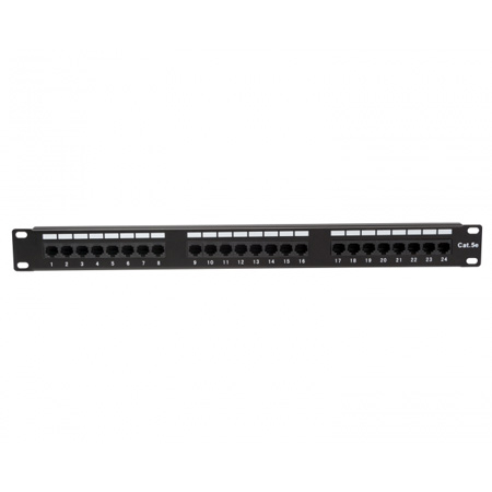 Platinum Tools 651-24C5 24 Port Cat5e Non-Shielded Patch Panel