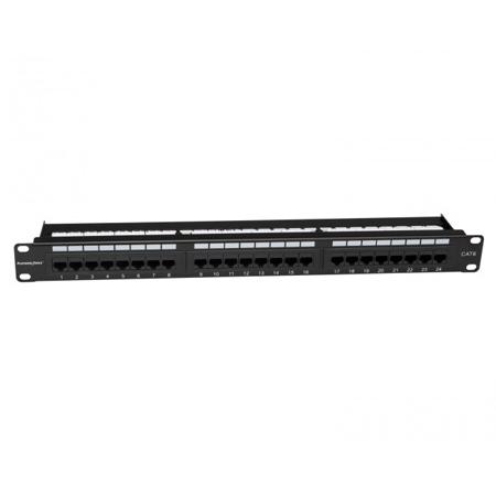 Platinum Tools 661-24C6 24 Port Cat6 Non-Shielded Patch Panel