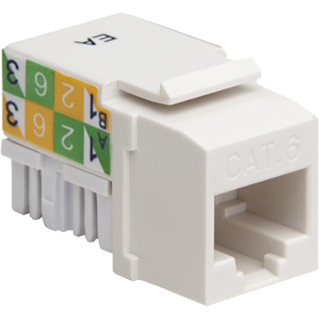 Platinum Tools 726WH-1 CAT6 Keystone Jack - 110 - White - Each