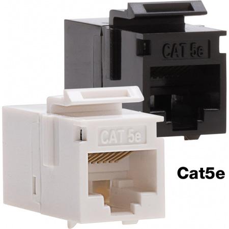 Platinum Tools 766BK-1 Cat5e Keystone Coupler - F to F - Black UTP - 1 Piece