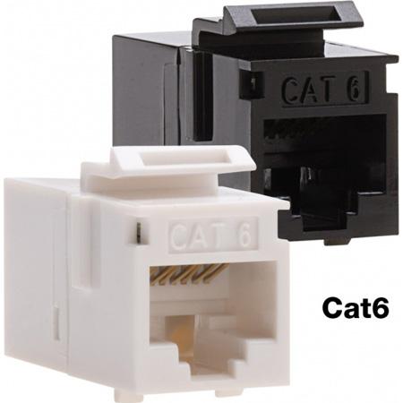 Platinum Tools 768BK-1 Cat6 Keystone Coupler - F to F - Black UTP - 1 Piece.