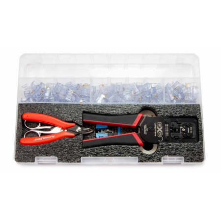 Platinum Tools 90185 EXO PRO Termination Kit with Stripper/Scissors/Cutter