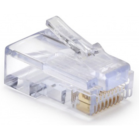 Platinum Tools 100003C EZ-RJ45 CAT5/5e Connectors for Solid or Stranded Conductors - 50 Pack