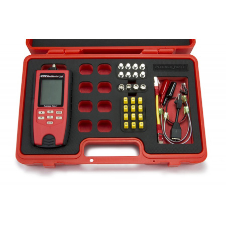 Platinum Tools T130K4 VDV MapMaster 3.0 Network & Coax Cable Field Tester Kit