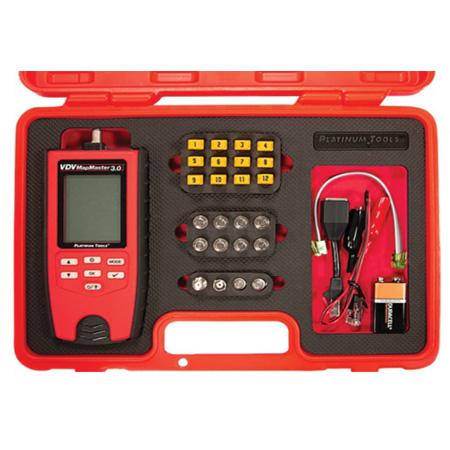 Platinum Tools T130K5 Platinum Tools T130K5 VDV MapMaster 3.0 Network & Coax Field Test Kit